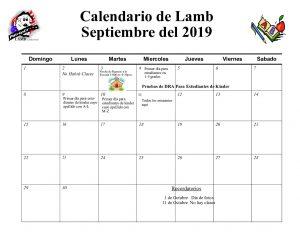 Calendar Spanish