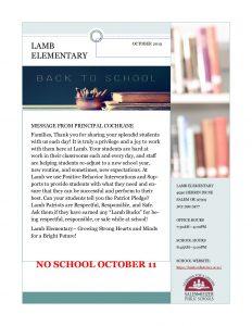 Oct Newsletter English