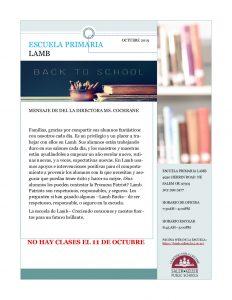 Oct Newsletter Spanish