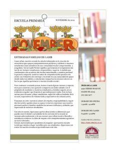 November Newsletter Spanish